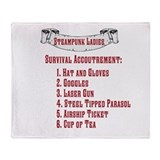 Steampunk Ladies' Checklist Throw Blanket