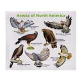 Hawks of North America Throw Blanket
