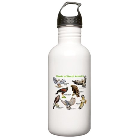 Hawks of North America Stainless Water Bottle 1.0L