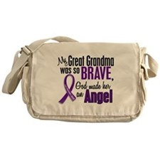 Angel 1 Pancreatic Cancer Messenger Bag