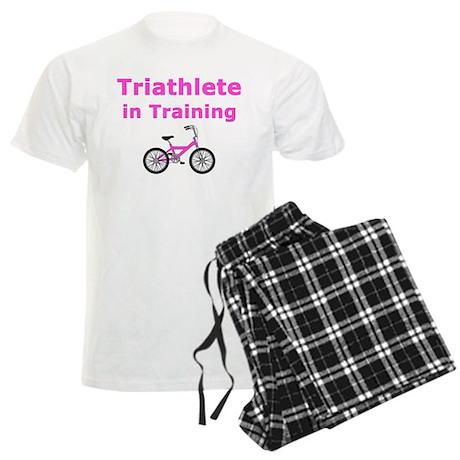 Triathlete in Training - Pink Bike Men's Light Paj