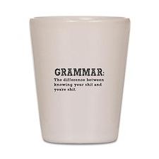 Know Your Grammar Shot Glass