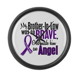 Angel 1 Pancreatic Cancer Large Wall Clock