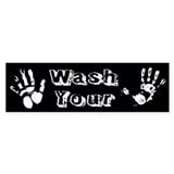 Wash Your Hands Custom Bumper Sticker