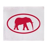 Alabama Red Elephant II Throw Blanket
