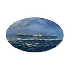 USS John F. Kennedy 38.5 x 24.5 Oval Wall Peel
