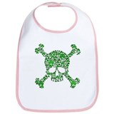 Irish Shamrock Crossbones Bib
