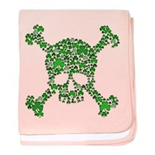 Irish Shamrock Crossbones baby blanket