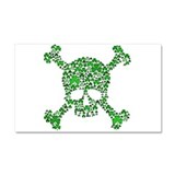 Irish Shamrock Crossbones Car Magnet 20 x 12