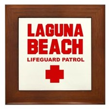 Laguna Beach Lifeguard Patrol Framed Tile