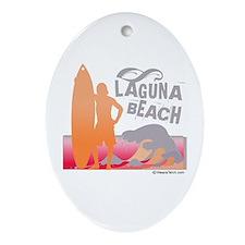 Laguna Beach -  Oval Ornament
