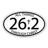 26.2 Through Christ Bumper Stickers