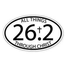 26.2 Through Christ Decal