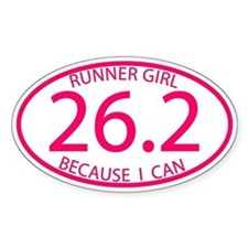 26.2 Runner Girl Because I Can Decal