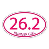 26.2 Runner Girl Marathon Decal