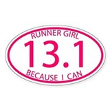 13.1 Runner Girl Because I Can  Aufkleber