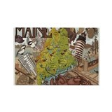 MAINE Rectangle Magnet (10 pack)