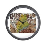 MAINE Wall Clock