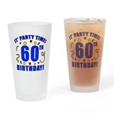 60th Birthday Party Time Drinking Glass