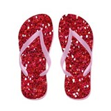 Red Glitter Flip Flops