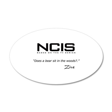 NCIS Ziva David Bear Quote 22x14 Oval Wall Peel