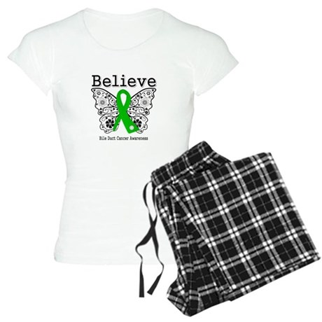 Believe Bile Duct Cancer Women's Light Pajamas