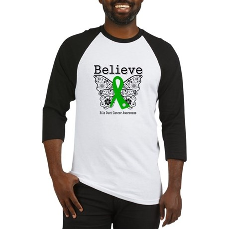 Believe Bile Duct Cancer Baseball Jersey
