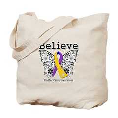 Believe Bladder Cancer Tote Bag