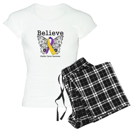 Believe Bladder Cancer Women's Light Pajamas