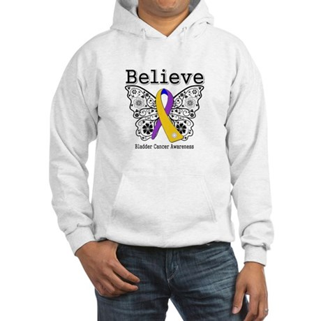 Believe Bladder Cancer Hooded Sweatshirt