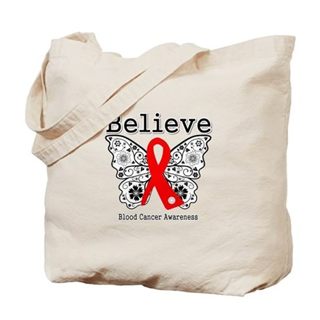 Believe Blood Cancer Tote Bag