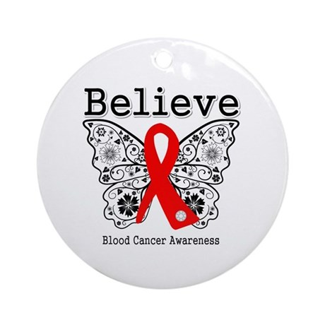 Believe Blood Cancer Ornament (Round)