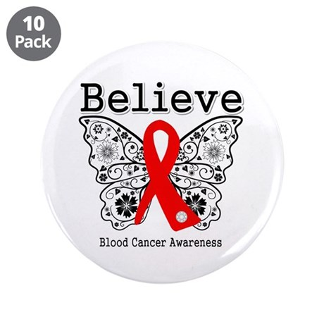 "Believe Blood Cancer 3.5"" Button (10 pack)"