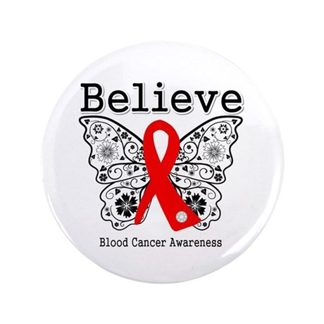 "Believe Blood Cancer 3.5"" Button (100 pack)"