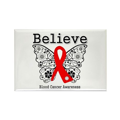 Believe Blood Cancer Rectangle Magnet