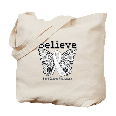 Believe Bone Cancer Tote Bag