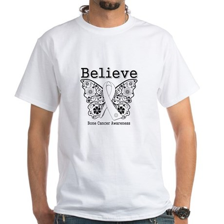 Believe Bone Cancer White T-Shirt