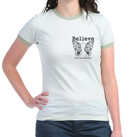 Believe Bone Cancer Jr. Ringer T-Shirt