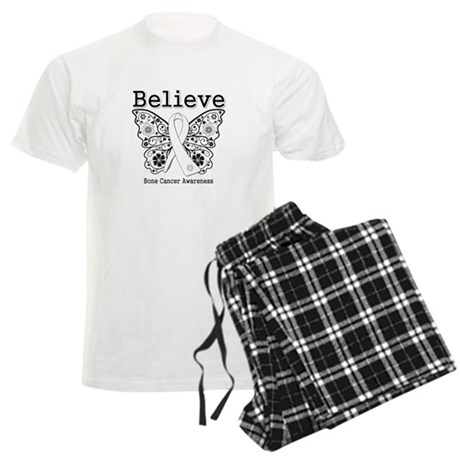 Believe Bone Cancer Men's Light Pajamas