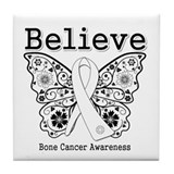 Believe Bone Cancer Tile Coaster