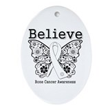 Believe Bone Cancer Ornament (Oval)