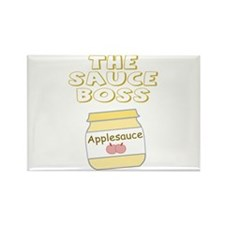 The Sauce Boss Baby Jar Rectangle Magnet (100 pack