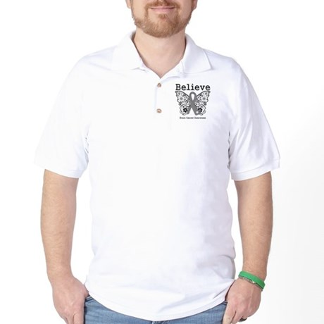 Believe Brain Cancer Golf Shirt