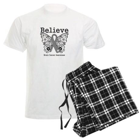 Believe Brain Cancer Men's Light Pajamas