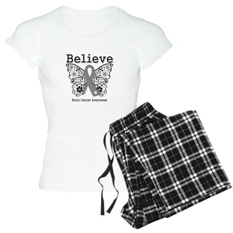 Believe Brain Cancer Women's Light Pajamas