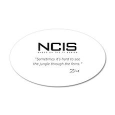 NCIS Ziva David Jungle Quote 22x14 Oval Wall Peel