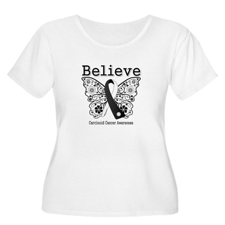 Believe - Carcinoid Cancer Women's Plus Size Scoop