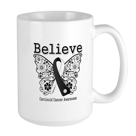 Believe - Carcinoid Cancer Large Mug