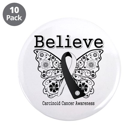 "Believe - Carcinoid Cancer 3.5"" Button (10 pack)"