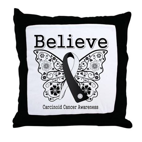 Believe - Carcinoid Cancer Throw Pillow